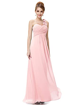 78dd5b1fb2 Ever-Pretty Flower One Shoulder Empire Waist Floor Length Bridesmaids Dress  09768