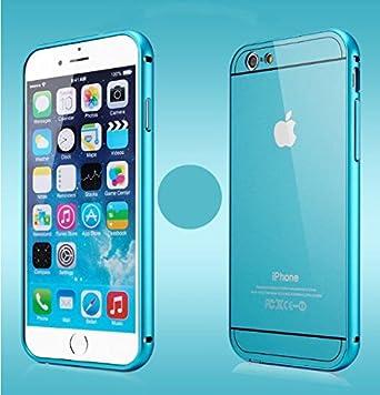 Aluminio marco de parachoques Chivel™ plástico duro placa trasera púa para iPhone 5/iPhone 6/iPhone 6 Plus (iPhone 5/5S (azul)): Amazon.es: Electrónica