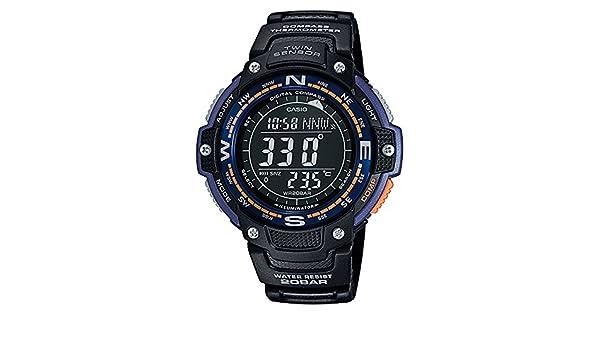 Casio SGW100 - 2B Twin Sensor Brújula digital/termómetro reloj: Amazon.es: Relojes