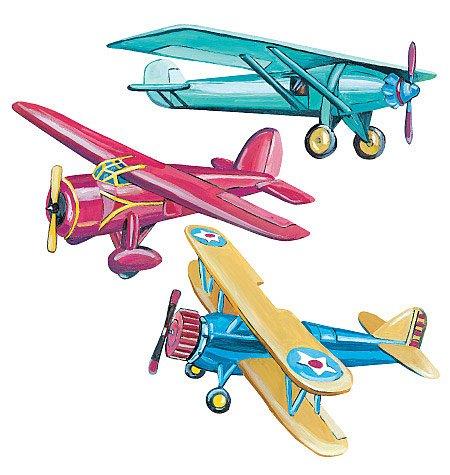 Wallies Vintage Airplanes Wallpaper Cutouts ()