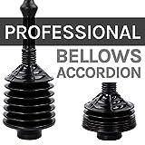 JS Jackson Supplies Black Bellows Accordion Toilet