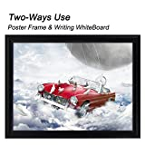 """T-Sign 24 x 36 inches Aluminum Snap Poster Frame Inclueds White Dry Earse Surface, 1"""" Profile Wall Mounted Black - Two Use Methods, for More Display"""