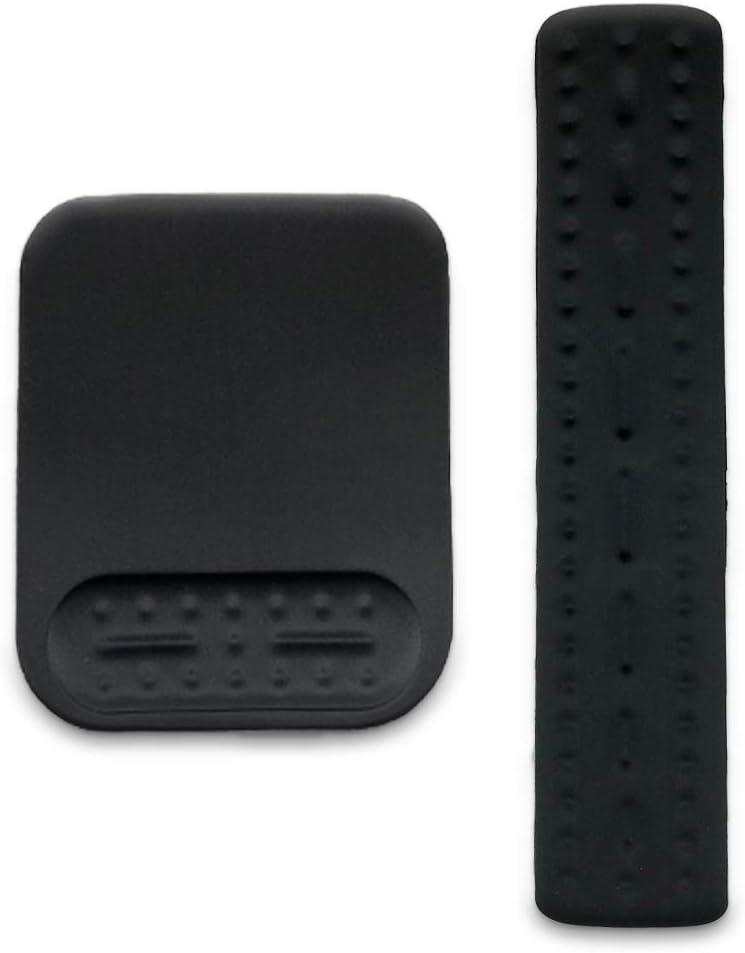 Sur-ciel Upgrade Mouse Wrist Rest Pad and Keyboard Wrist Rest Pad,Non-Slip PU Base,Ergonomic Design,Memory Foam Set,Gaming Mouse Pad for Computer Laptop Black