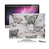 Handmade velvet inner durable 27-inch dust cover for iMac classic butterfly stamps design free shipping