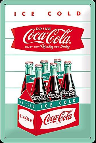 Coca Cola Carton embossed steel sign (na 3020) (Cola Christmas Decor Coca)