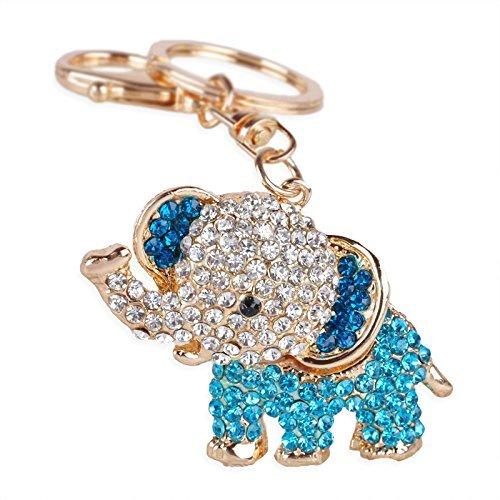 Bolso Crystal Lucky y encantos llavero azul Nitruro; del Rhinestone colgante elefante Rosa de lindo la Regalos rosa cartera OO0rq