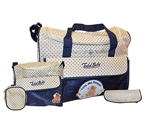Todd Baby Brand New 5pc Bottle Food Bag Holder Set (Winky Hipster)