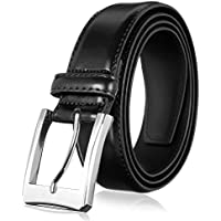 Men's Genuine Leather Dress Belt with Premium Quality - Classic & Fashion Design for Work Business and Casual