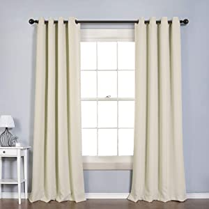 MYSKY HOME Blackout Curtain for Bedroom, Grommet Room Darkening Curtain, Amazing Triple Weave Thermal Insulated Curtain, 1 Curtain Panel ( 52 x 95 Inch, Beige )