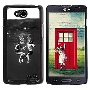 Be Good Phone Accessory // Dura Cáscara cubierta Protectora Caso Carcasa Funda de Protección para LG OPTIMUS L90 / D415 // Kids Black White Sweet Mom