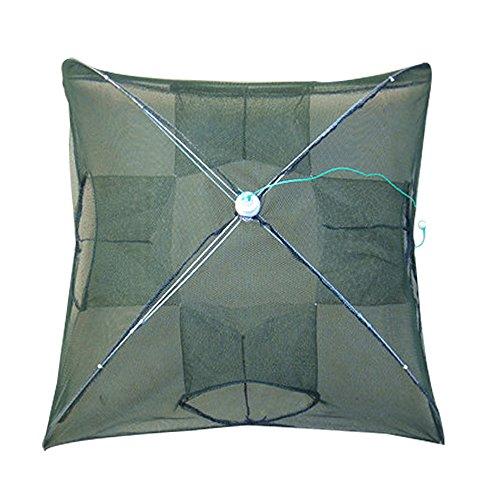 g Fishes Net Landing Net Trap Cast Dip Cage for Fish Shrimp Minnow Crayfish Crab Net (4 Holes) ()