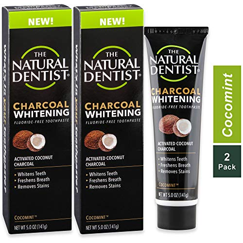 The Natural Dentist Charcoal Whitening Toothpaste, 5 Ounce Tube (Pack of 2)