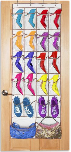PRO-MART DAZZ 22 Pocket Over The Door Shoe and Purse (20 Pocket Shoe)