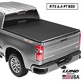 "Lund Genesis Tri-Fold, Soft Folding Truck Bed Tonneau Cover | 95064 | Fits 2009-18, 19/20 Classic Dodge Ram 1500 6' 4"" Bed"