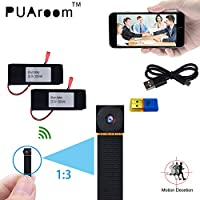 PUAroom 1080P WiFi Super Small Camera Support Remote View for IOS IPhone Android Phone APP, Potable for happy time