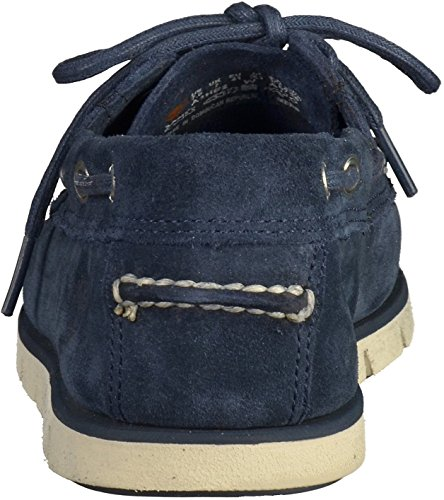 Timberland Mens Tidelands 2 Eye Suede Shoes Bleu marine