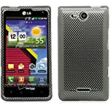Aimo LGVS840PCIM006 Durable Hard Snap-On Case for LG Lucid VS840 - 1 Pack - Retail Packaging - Carbon Fiber