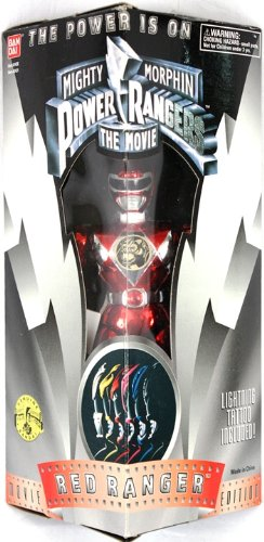 Red Ranger Mighty Morphin Power Rangers the Movie Action Figure by Bandai (Power Rangers Outfit)