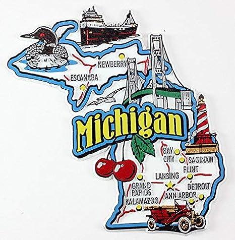 Michigan Travel Souvenir Flexible Fridge Magnet WALDO STADIUM