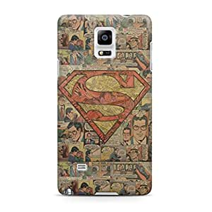 Superman Superhero Comic Book Man of St Full Wrap Rough Case Skin, Fashion Design Image Custom , Durable Hard 3d Case Cover for Samsung Galaxy Note 4 Regular Case New Design