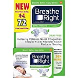 Breathe Right Nasal Strips, Extra Clear for Sensitive Skin, 72 Clear Strips