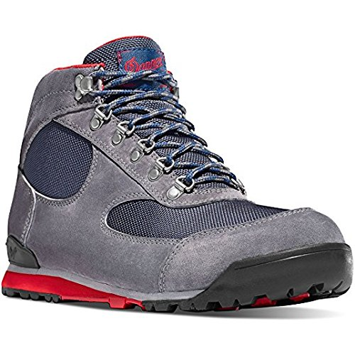 Danner Women's Jag Steel Gray/Blue Wing 4.5'' Suede Sole Lifestyle Shoes | Waterproof Hiking Outsole Retro Waffle (8.5 M)