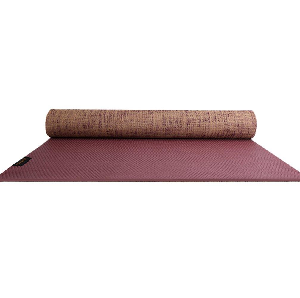 Ka-Cakus Yogamatte Rutschfest Fitnessmatte schadstofffrei Gymnastikmatte Matte Leinwand hautfreundlich Sportmatte, Hypoallergen Trainingsmatte, SGS geprüft, ideal für Pilates, Gymnastik und Yoga