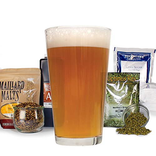 Chinook IPA All Grain Homebrew Beer Making Recipe Kit - Light India Pale Ale 5 Gallons Beer Brewing Ingredients