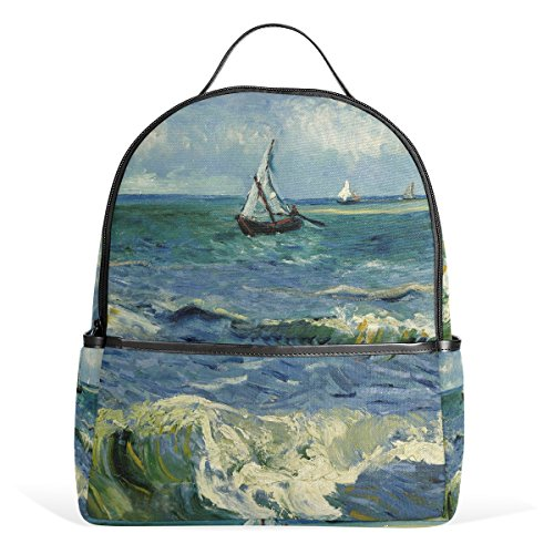 Van Internal (JSTEL Kids Backpack Children's Day Gift Van Gogh Sea School Backpacks for Boys Girls Bookbags Travel Laptop Bags)