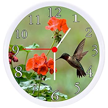 Amazon Com Rusch Inc Hummingbird Wall Clock Home Amp Kitchen