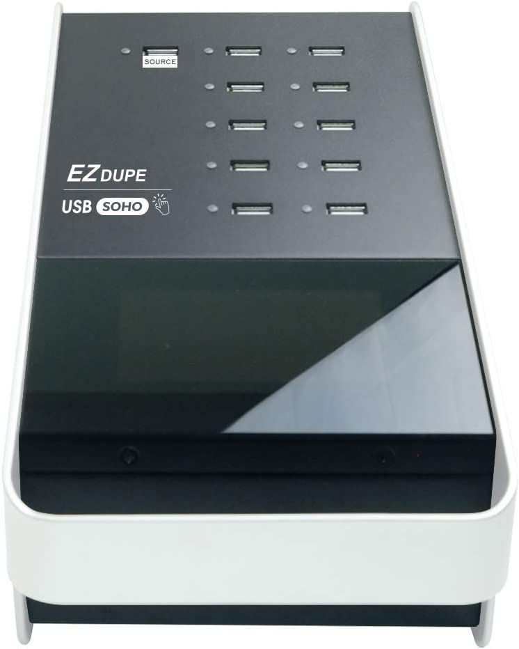 EZ DUPE SOHO Touch USB Duplicator 1 to 10 USB Flash Drive Duplicator Copier Eraser with Touch Screen