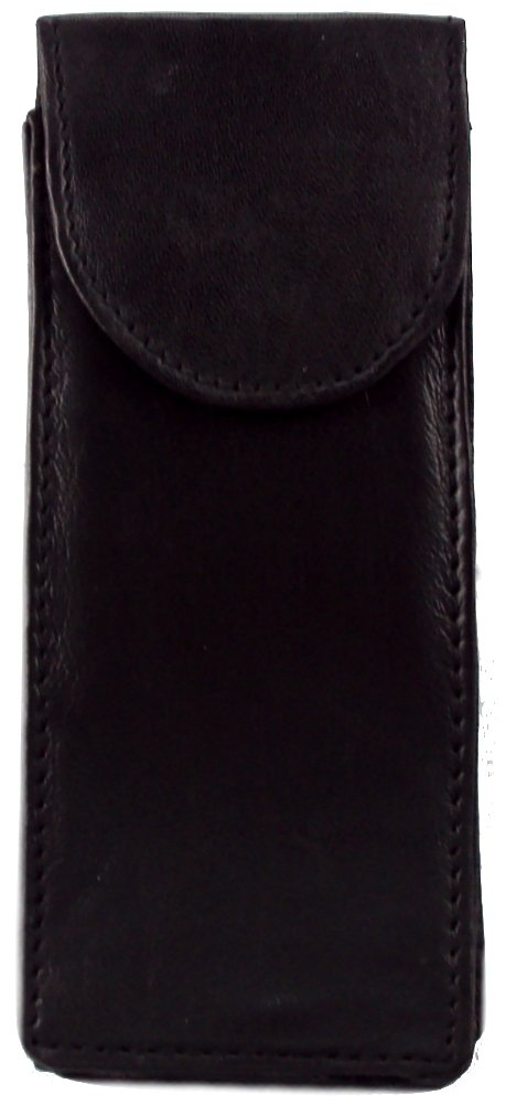 Genuine Leather Double Glasses Case - Style mw1508
