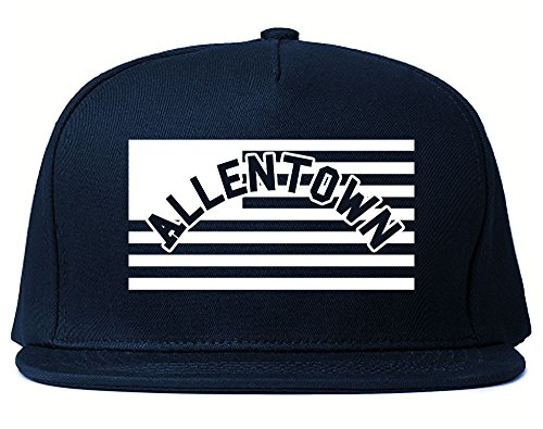 City Of Allentown with United States Flag Snapback Hat Cap Navy (Allentown Collection)