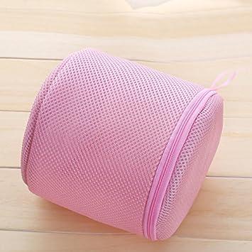Red, cesto para la ropa bolsa cilíndrico Lavado Bolsa Ropa Sucia lavadora con cremallera para