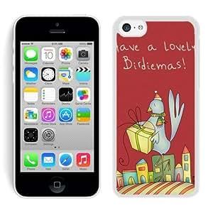 Design for Mass Customization Iphone 5C TPU Case Christmas Bird White iPhone 5C Case 2