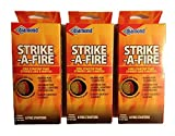Strike-A-Fire Diamond Brand Fire Starter Matches - 3 Boxes (24 Fire Starters Total)