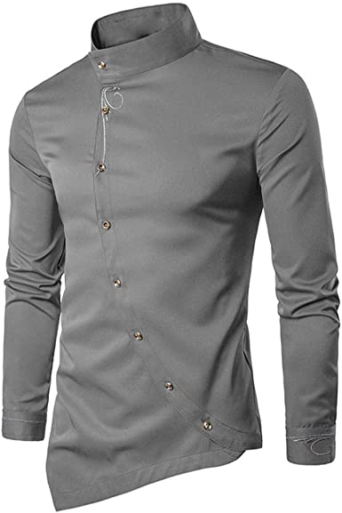 Camisas Casual Hombre Manga Larga, Covermason Blusa Irregular para Hombres Tops Camiseta Bordada: Amazon.es: Ropa y accesorios
