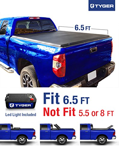 Tyger Auto TG-BC3T1033 TRI-FOLD Truck Bed Tonneau Cover 2007-2013 Toyota Tundra | Fleetside 6.5′ Bed | For models with or without the Deckrail System