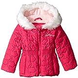 Weatherproof Baby-Girls Infant Star Print Jacket, Pink Rose, 12 Months