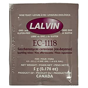 Lalvin EC-1118 Yeast (5-pack)