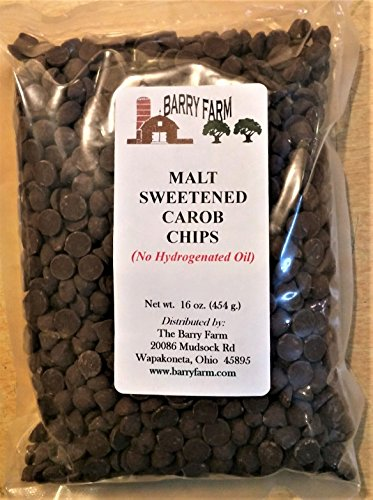 Carob Chips, Barley Malt Sweetened, 1 lb.