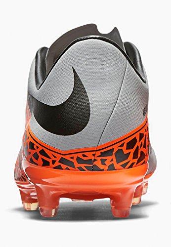 Nike HYPERVENOM PHINISH II FG Hombre Zapatos de fútbol Wolf Grey, Total Orange, Black