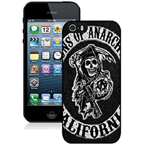 Beautiful Custom Designed iPhone 5S Phone Case For Sons of Anarchy Logo Phone Case Cover