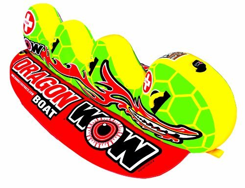 WOW World of Watersports 13-1060 Dragon Boat Inflatable Towable Ski Tube 3 Person [並行輸入品]   B075K1HP92