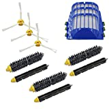 LOVE(TM) Bristle & Flexible Beater Brush 3-Armed Aero Vac Filters kit for Robot 600 Series 620 630 650 660