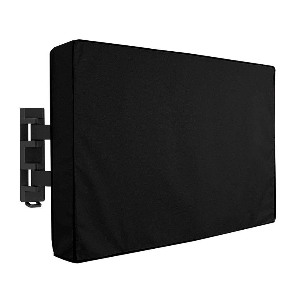 SubClap 屋外用テレビカバー 30インチ~32インチ 液晶ディスプレイ LED プラズマテレビ画面用ユニバーサル防水スクリーンプロテクター ほとんどのテレビマウントとスタンドに対応 ブラック 50''-52'' B07L6F4C37  50''-52''
