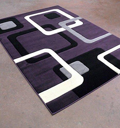 Home Must Haves Super Soft Squares 3-Dimentional Modern Contemporary Polyester Area Rug Carpet Living Room Bedroom Rug Carpet Floor Hand Carved Rug Carpet (8'x10′ Review