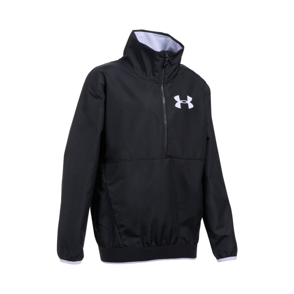 Under Armour Girls' Boat House Jacket, Black (002)/White, Youth X-Small by Under Armour