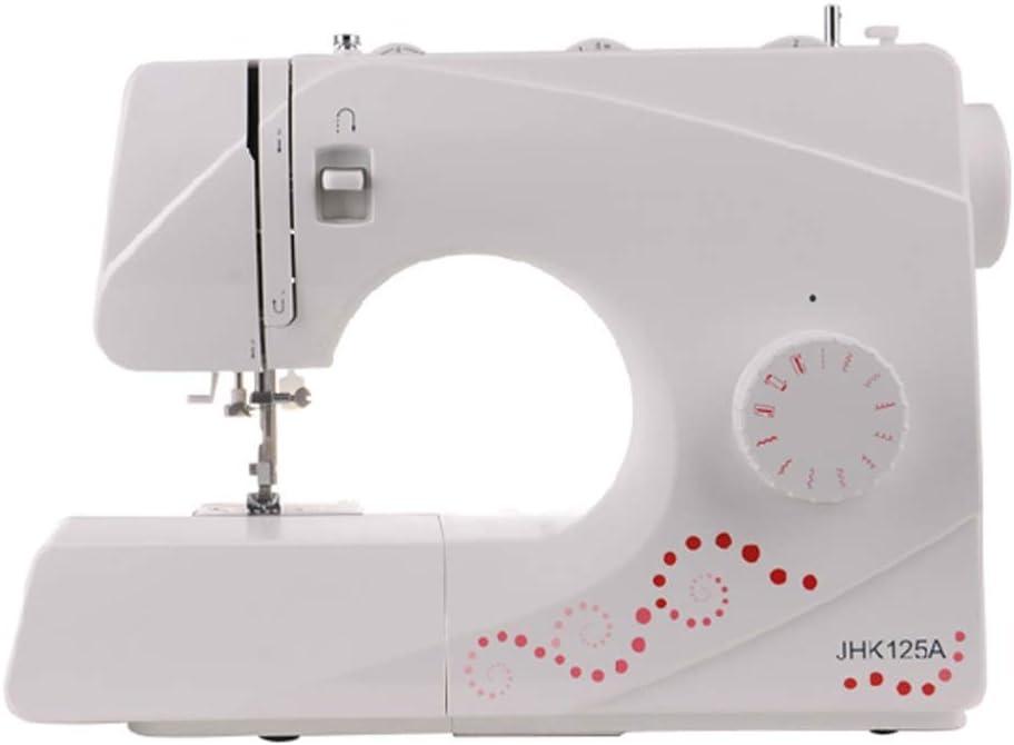 Zcyg Maquina de Coser portatil de Mano Mini Hogar eléctrico multifunción de Escritorio máquina de Coser, la manija 11 Puntadas Pespunte Plegable buttonholing: Amazon.es: Hogar