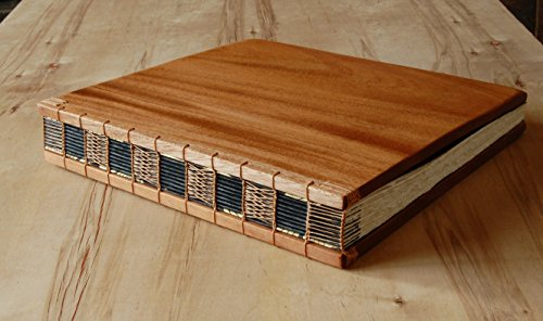 Handmade Wedding Guest Book or Vacation Home Guestbook - Mahogany Wood by Three Trees Bindery